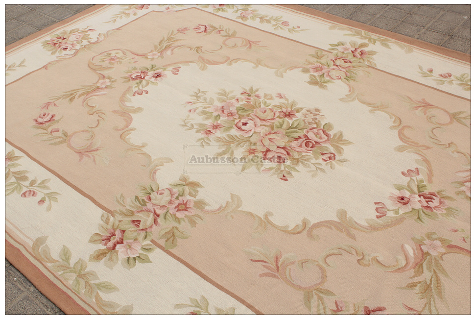shabby french chic aubusson rug light pink ivory cream. Black Bedroom Furniture Sets. Home Design Ideas