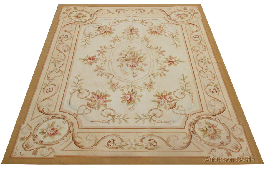 Shabby french chic 3x5 needlepoint rug aubusson decor for Tapis shabby chic