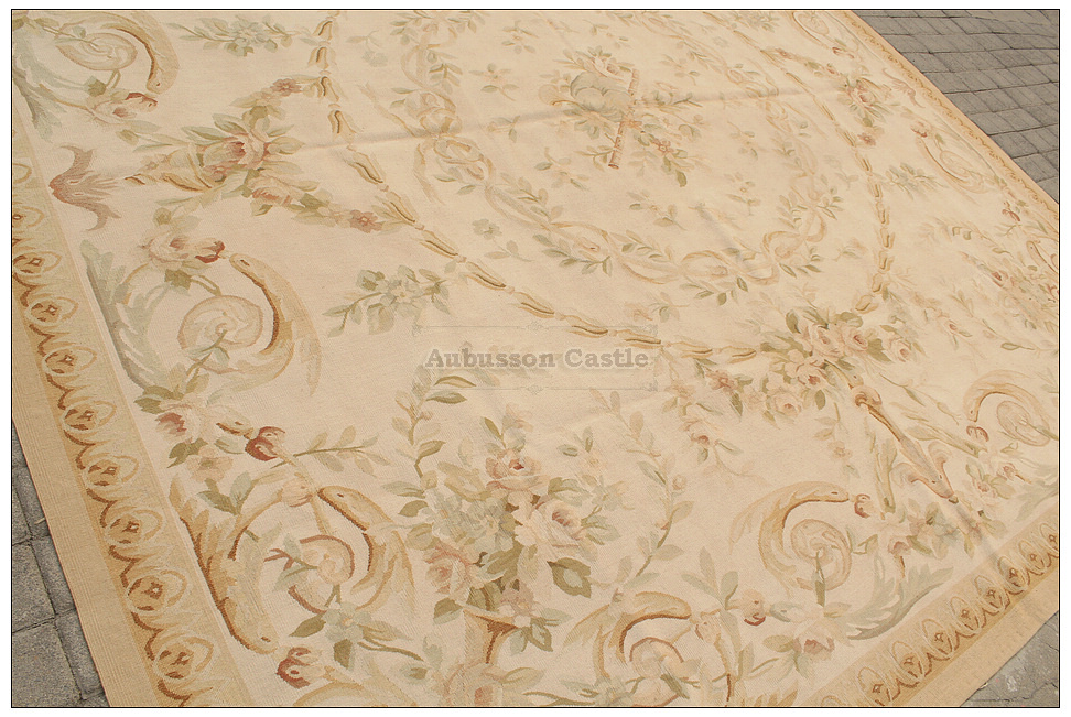 Pastel Antique French Aubusson Area Rug Free Ship Country Home Decor Wool Carpet Ebay