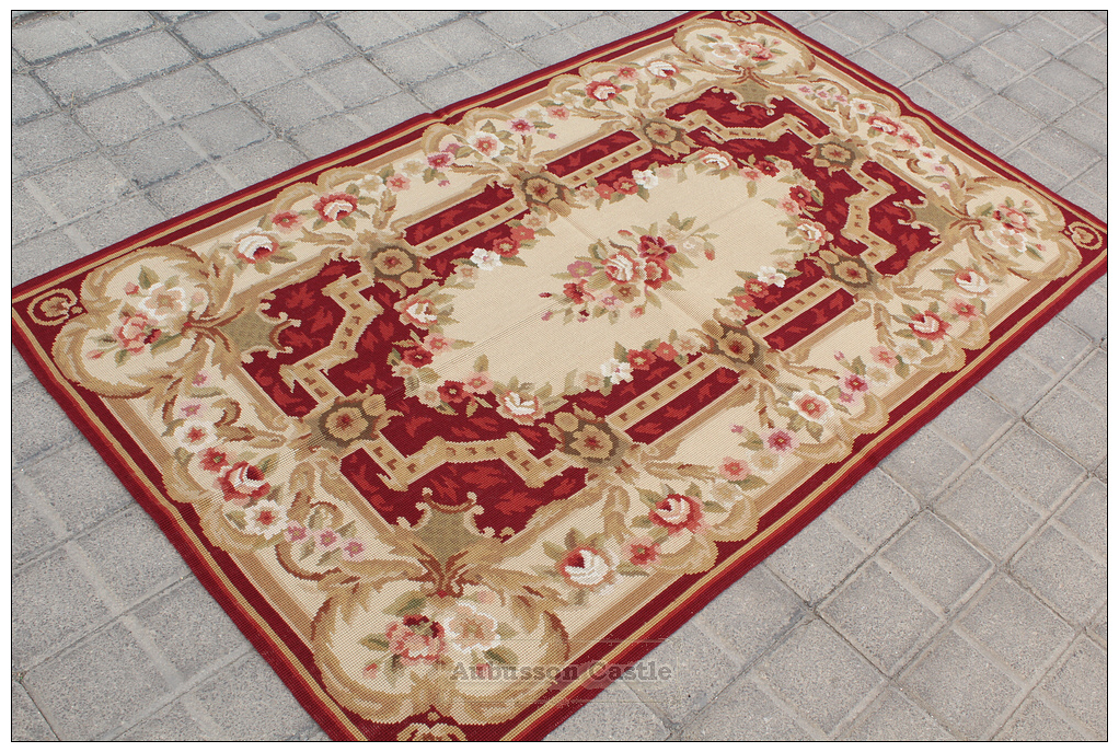 Shabby French Chic 3x5 Needlepoint Rug Aubusson Decor