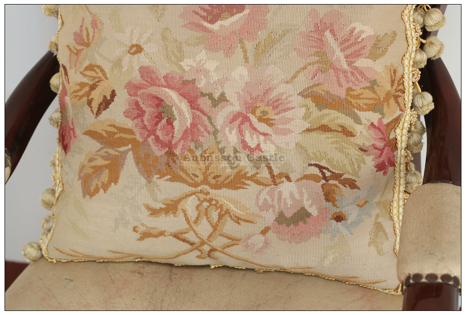 French Shabby Chic Pillows : SHABBY PINK CHIC Aubusson Cottage Pillow French Decorative Sofa Bed Cushion WOOL eBay