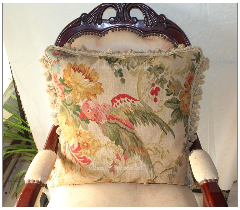 Remarkable Details About Wildlife Parrot Aubusson Tapestry Pillow 20 Wool Big Cushion Cover Free Ship Inzonedesignstudio Interior Chair Design Inzonedesignstudiocom