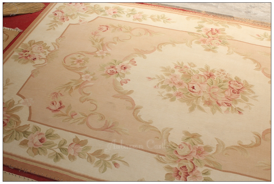 Aubusson Rug Cream Pink. Shabby French Chic Aubusson Rug LIGHT PINK IVORY  CREAM Subtle