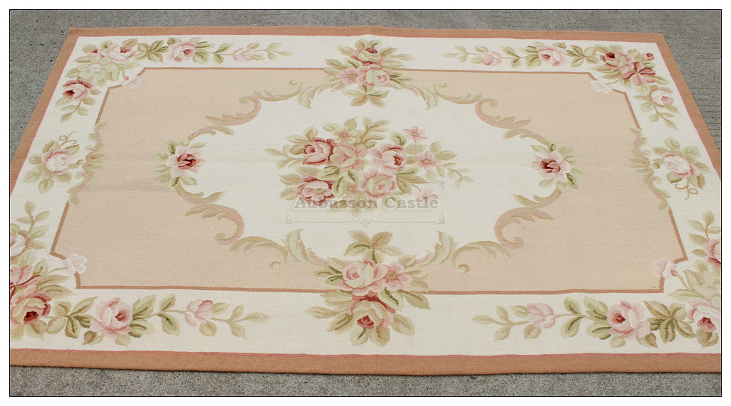 3x5 shabby french chic pink ivory aubusson area rug home decor cream rh ebay com shabby chic carpeting shabby chic carpeting