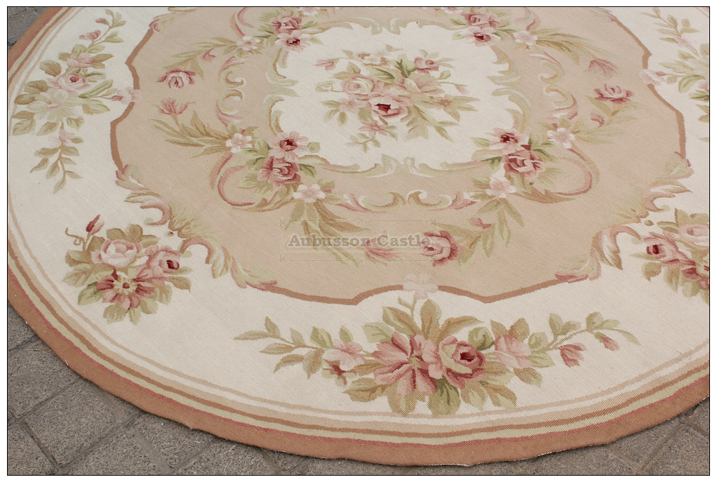 rug 6x6. round aubusson rug 6x6 shabby pink chic