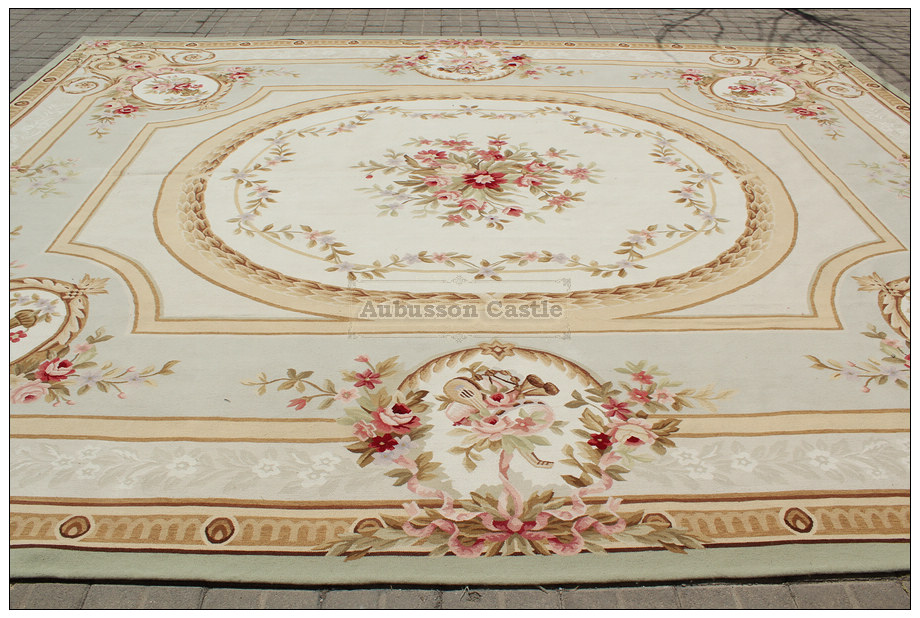French Aubusson Needlepoint Area Rug