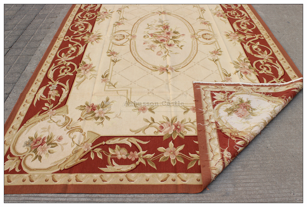 Picture of: Vintage Country French Home Decor Aubusson Area Rug Wool Woven Handmade Carpet Ebay