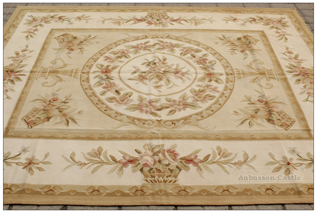 Shabby French Chic 6x8 Aubusson Rug Country Home Decor