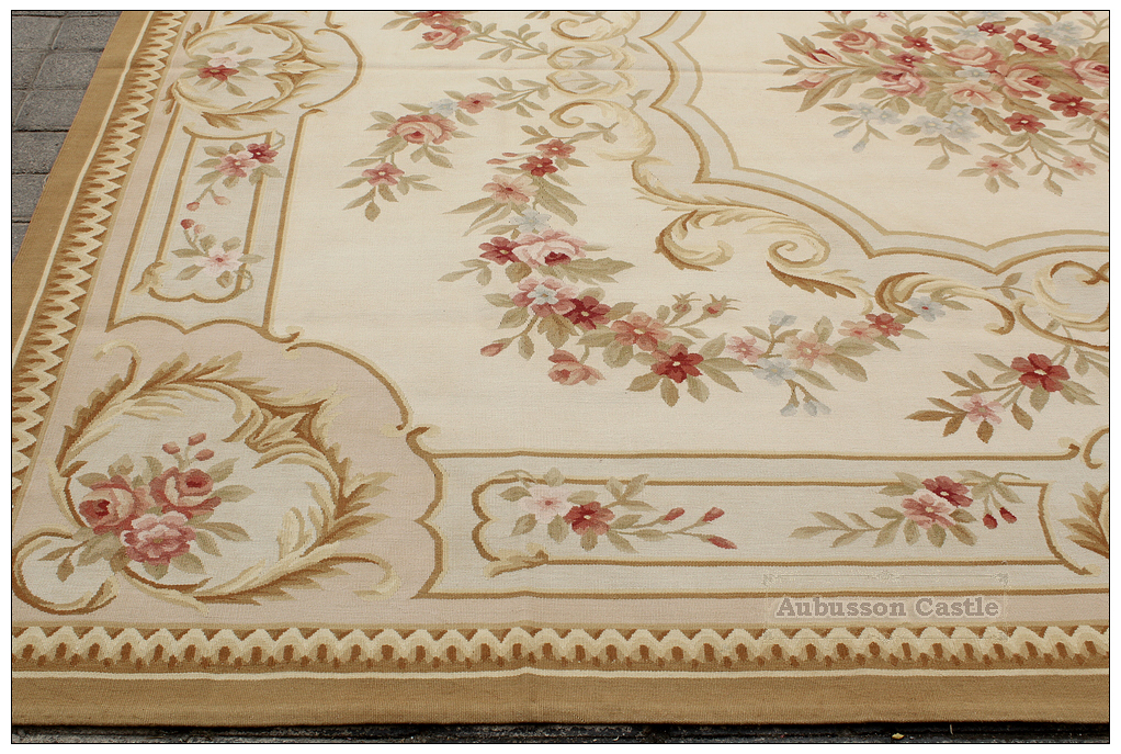 8'X10' SHABBY FRENCH CHIC Aubusson Area Rug COUNTRY HOME ...
