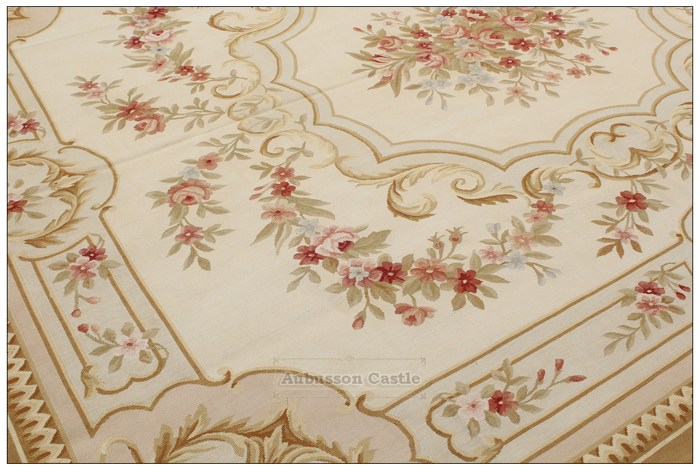 8 X10 Shabby French Chic Aubusson Area Rug Country Home