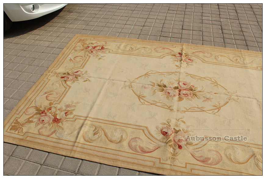 Aubusson Rug Pastel French