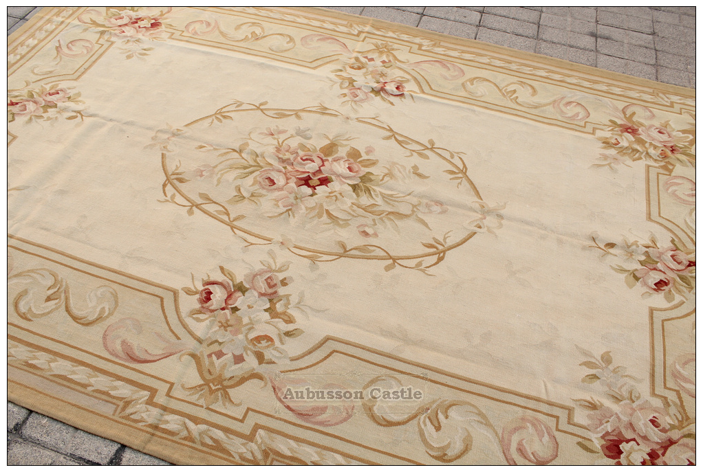 Aubusson Rug 6x9 Country Pastel French