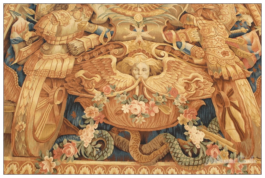 8x10 Aubusson Rug Tapestry Louis Xv Royal Crest Free