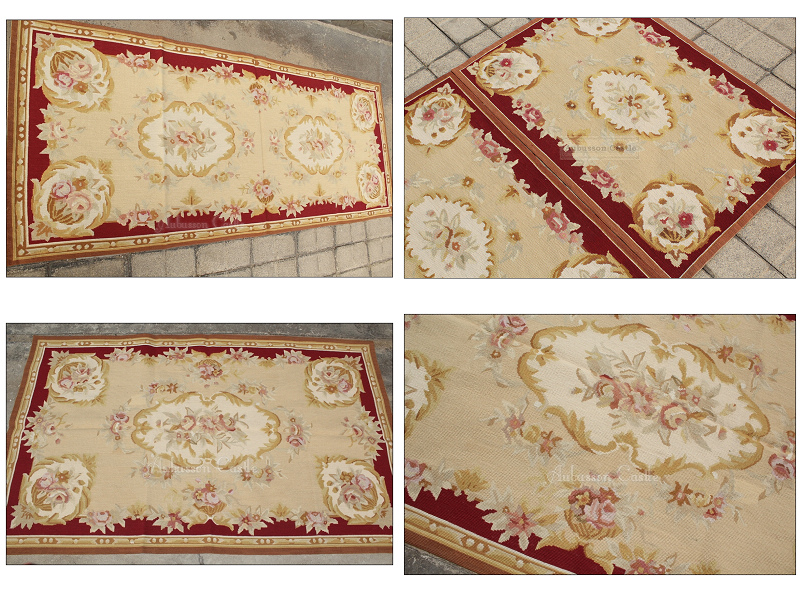 Needlepoint Rose Fl Rug
